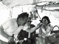 Viola with Onassis and Ustinov, Sailing Skorpios 1970
