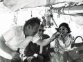 Viola with Onassis and Ustinov, Sailing Skorpios 1970