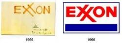 Exxon logo by Raymond Loewy